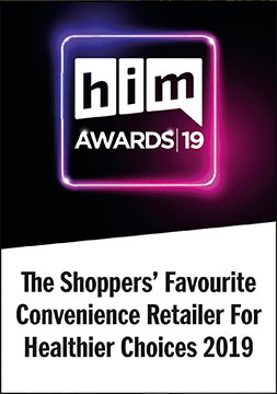 him awards 19 Shoppers Favourite Convenience Retailer - Healthier Choices Winner - Shoppers Favourite Impulse Convenience Retailer